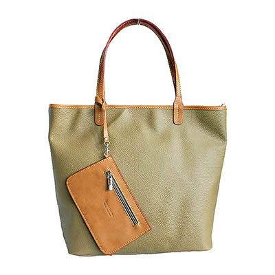 Taupe Leather Shopper Bag With Detachable Clutch Bag - Down to £49.99 from £84.99