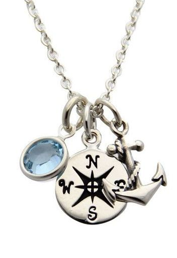 Nautical Anchor Necklace ♥ never eat spider webs ( a good way to learn which way is which )