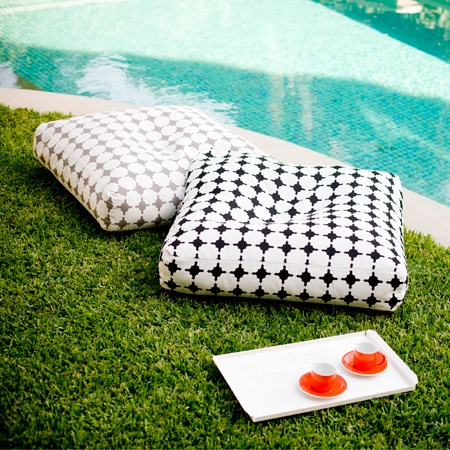 Outdoor Floor Cushions, designed by Tait Outdoor
