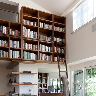 Great use of high wall space!