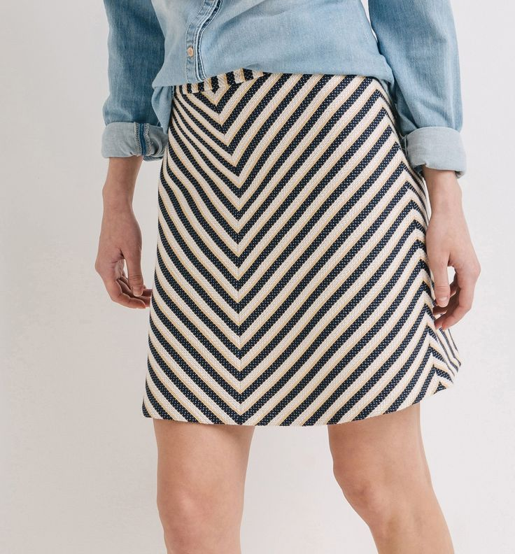 Ausgestellter Streifenrock - Bunt gemustert - Damen - Röcke - Promod