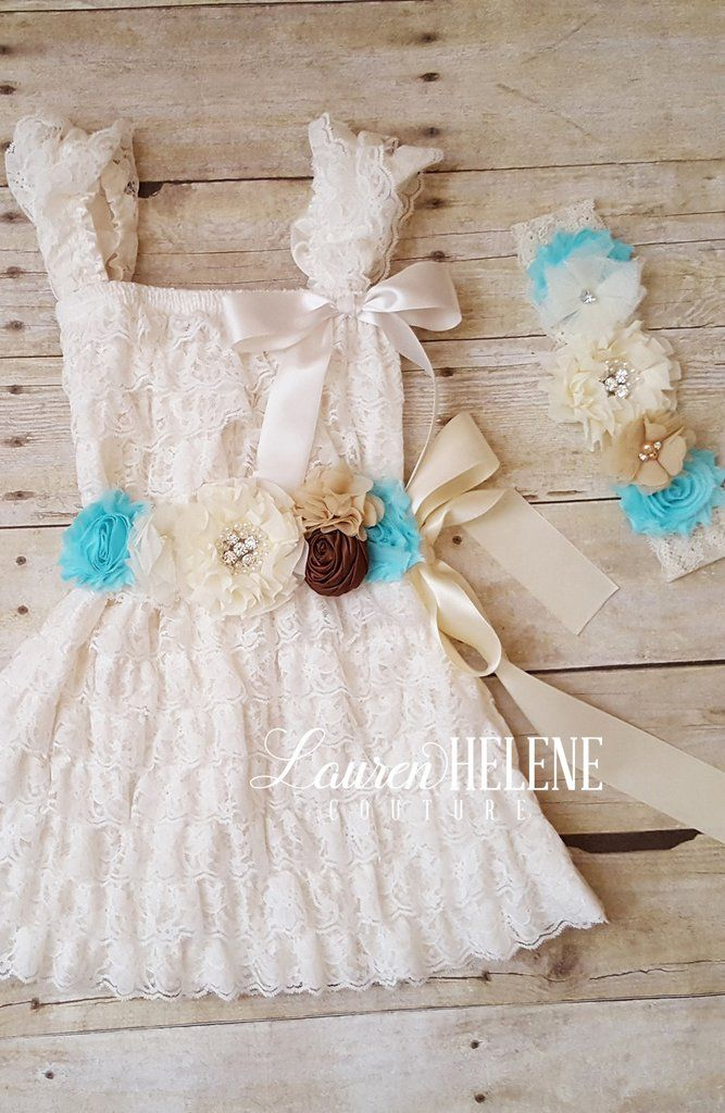 western wedding boho flower girl dress.
