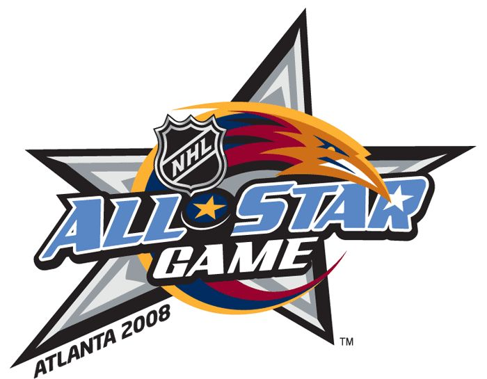 NHL All-Star Game Primary Logo (2008) - 2008 NHL All-Star Game Logo - Played at Phillips Arena in  Atlanta, GA