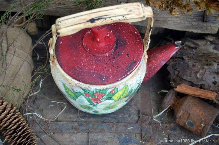 """Купить Заварочный чайник """"Рождественский"""", для кухни в интернет магазине на Ярмарке Мастеров"""