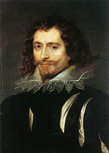 George Villiers, 1st Duke of Buckingham KG ( /ˈvɪlərz/;[1][2] 28 August 1592 – 23 August 1628) was the favourite, claimed by some to be the lover, of King James I of England.[3] Despite a very patchy political and military record, he remained at the height of royal favour for the first two years of the reign of Charles I, until he was assassinated. He was one of the most rewarded royal courtiers in all history