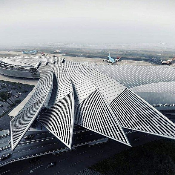 Winged airport design via dazzling archi nextarch next top architects via katpaskv- architecture, design, love