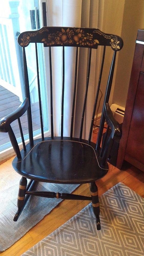 Antique Wood Rocking Chair Nichols Amp Stone Boston Rocker