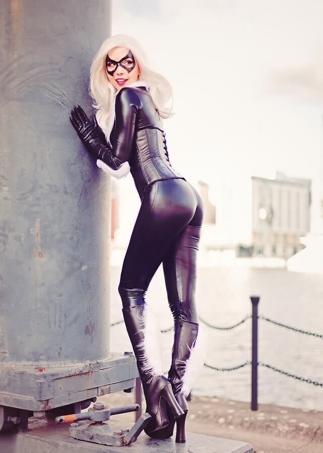 Black Cat Cosplay By Cosbabe