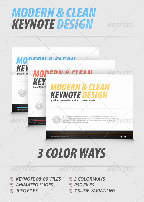 Modern and Clean Keynote Presentation
