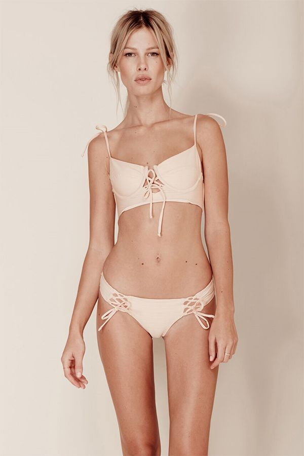 FOR LOVE & LEMONS - Riviera Bikini Bottoms - Peach