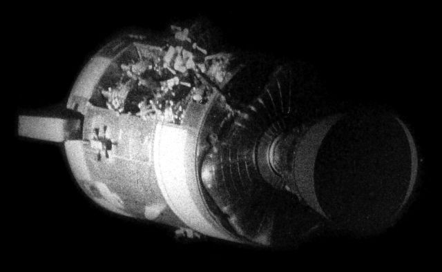 Apollo 13-actual and not a representation! (God had Mercy, and got our Boys back Home to Earth!)