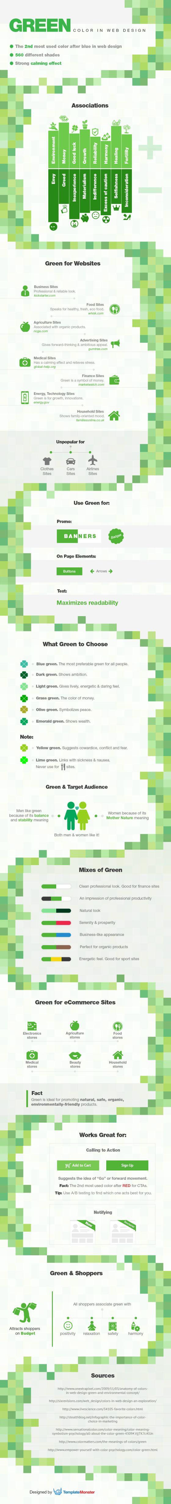 Color verde en Diseño Web