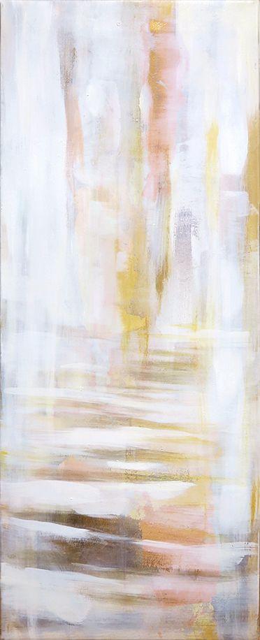 The hallway, 80x30cm, oil and gildedmetal leaf on canvas, 2016