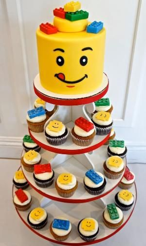 #LEGO #CAKE #CUPCAKES by Half Baked Co.