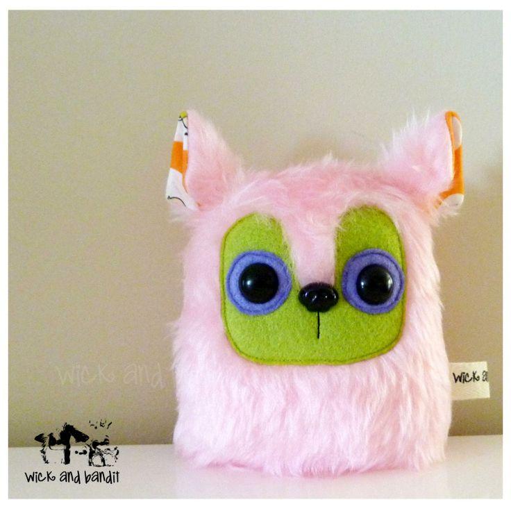 $13 Critter Plush Blossom Pink by Wickandbandit on Handmade Australia