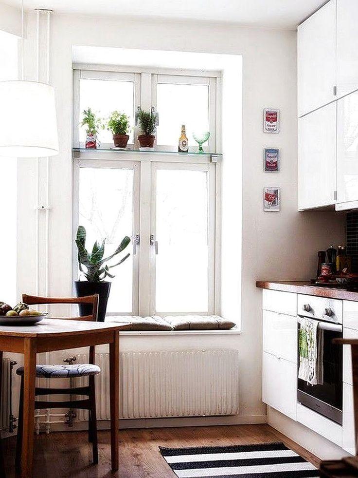 общем целом как можно использовать подоконник в кухне фото устали
