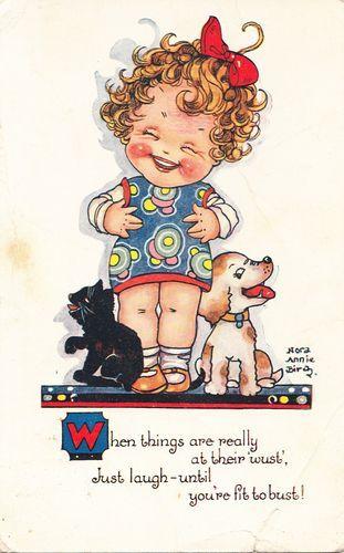 NORA ANNIE BIRCH ~ vintage postcard, via  eBay