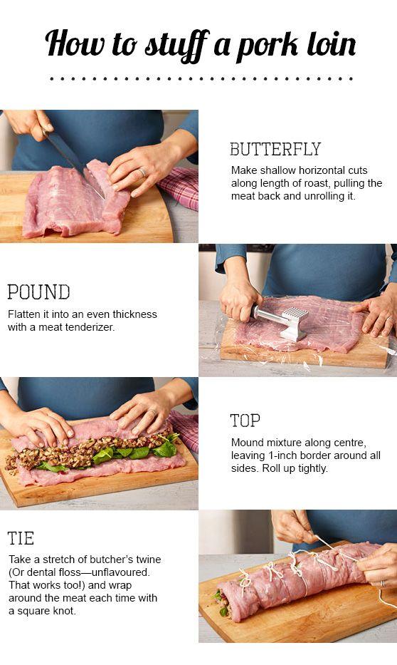 How to stuff a pork tenderloin