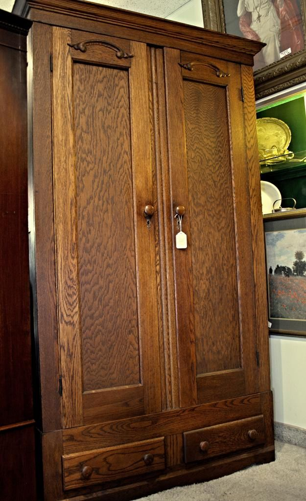 Antique Wardrobe Closet With Drawers