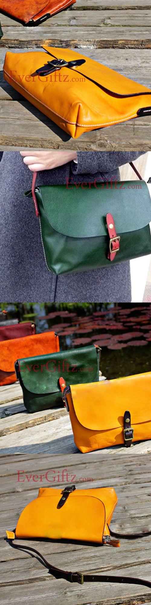 Handmade leather vintage women handbag shoulder bag crossbody bag Messenger bag