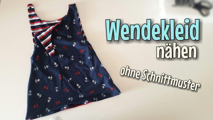 Wendekleid Nähanleitung - OHNE Schnittmuster - Für Anfänger - Nähtinchen
