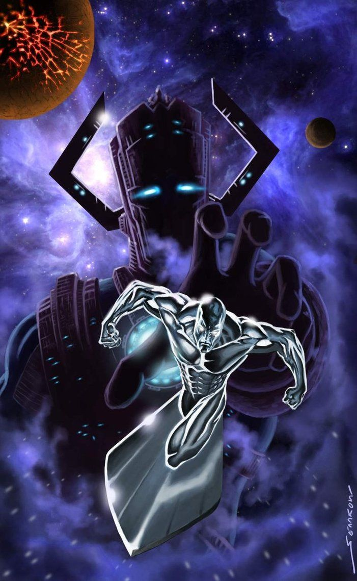 Silver Surfer & Galactus by Jim Sterenko