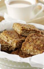 Hazelnut oat slice
