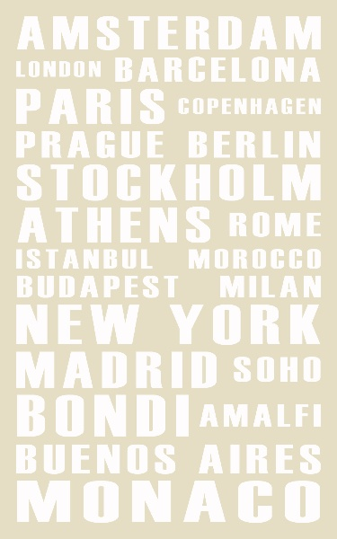 Personalise your own bus scroll. Choose the size, colour and words. Think places you've lived, holidays etc...