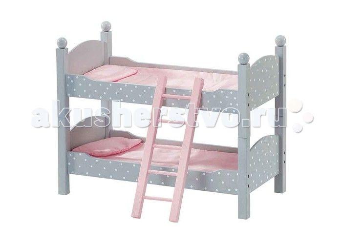 Kids4kids Деревянная двухъярусная кроватка Мир Принцесс для кукол  Kids4kids Деревянная двухъярусная кроватка Мир Принцесс для кукол до 46 см 2 разборных модуля создана специально для любимых кукол. Все куклы - маленькие принцессы! Как и все принцессы они любят спать в красивых мягких кроватках.   Особенности:  Модульная система позволяет использовать игрушку как двухярусную кроватку или как 2 отдельных спальных места Просторная кровать подойдет для кукол до 46 см ростом, что делает ее…