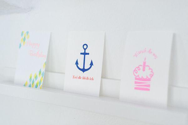 Letterpress Studio poule folle Stuttgart Greeting Cards
