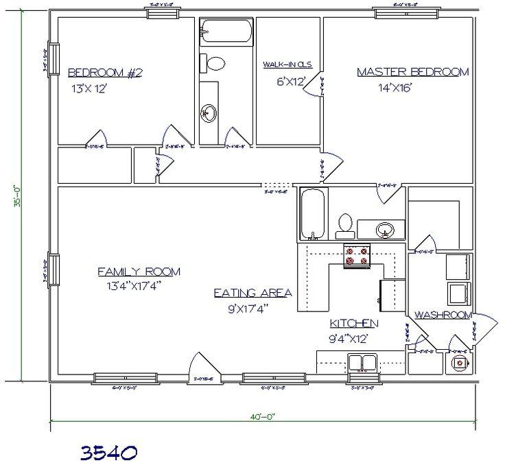 84 best shop house plans images on pinterest for 1500 sq ft metal building