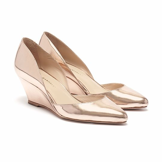 Loeffler Randall Embossed Leather Wedge Pumps discount fake under 70 dollars cheap sale get authentic XRQbV99