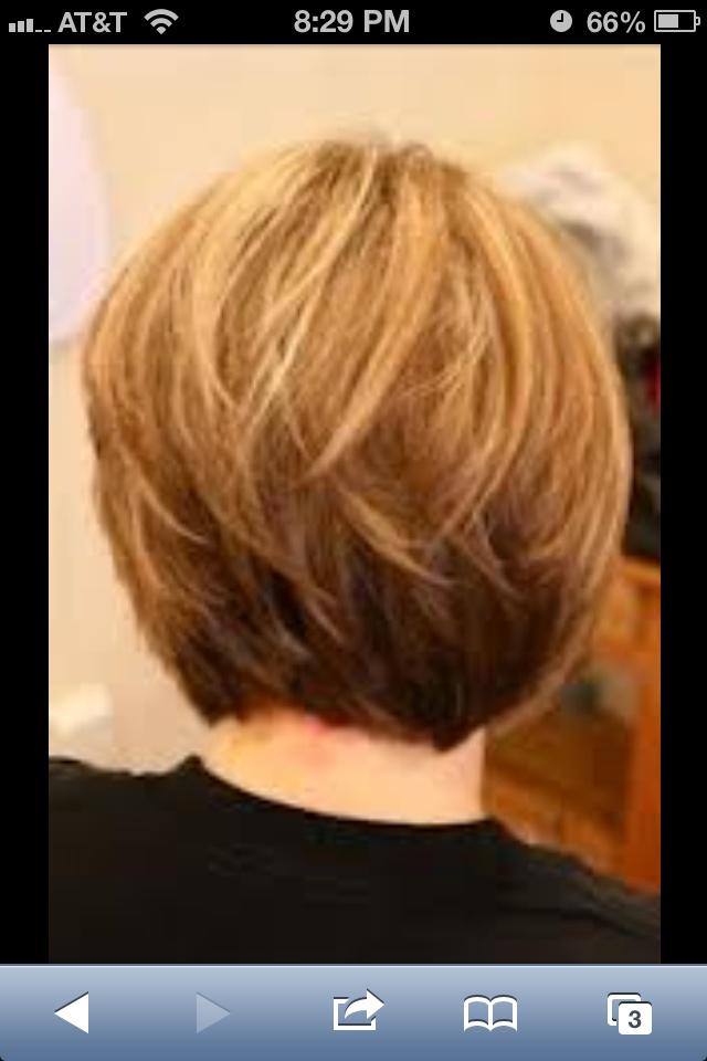 Back view stacked bob
