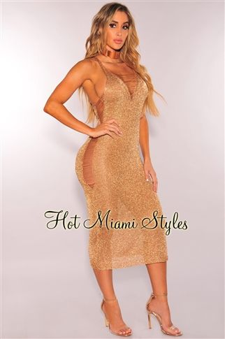 cccf0f003abc1 Rose Gold Metallic Ripped Knit V Neck Maxi Cover Up Dress in 2019 | n |  Dresses, Lace knitting, Formal dresses