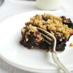 Loads of plump, dark, sweet cherries hugged by two layers of rich, crumbly, cobbler crust. {Gluten/Grain/Dairy-Free}