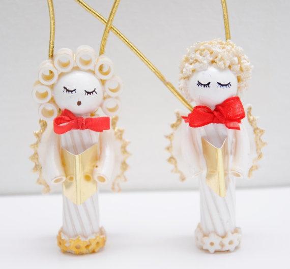 Pasta Angels Christmas Tree Ornament Von FlamysHandmade