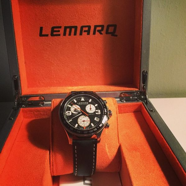 The Monza Chrono is made of the highest quality materials. Order your own LEMARQ chronograph at www.lemarqwatches.com.