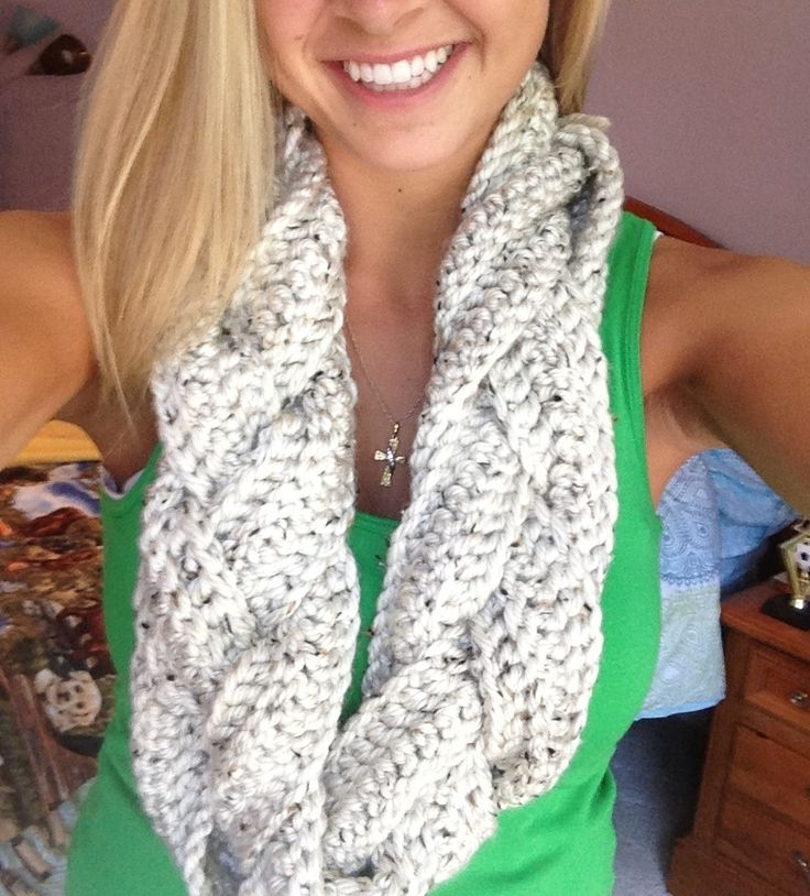 Braided Infinity Scarf...double crochet 3 rows (off a 110 ...