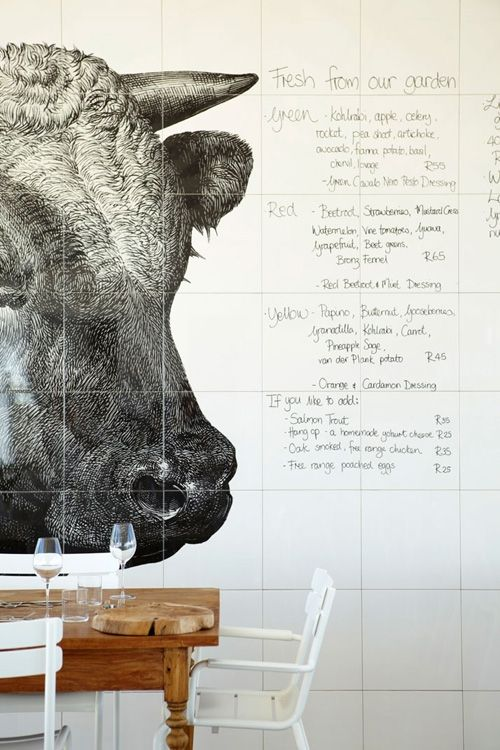This Is The Menu Wall At Babylonstoren Hotel In South Africa Its A Stylish Luxury And Working Farm Once