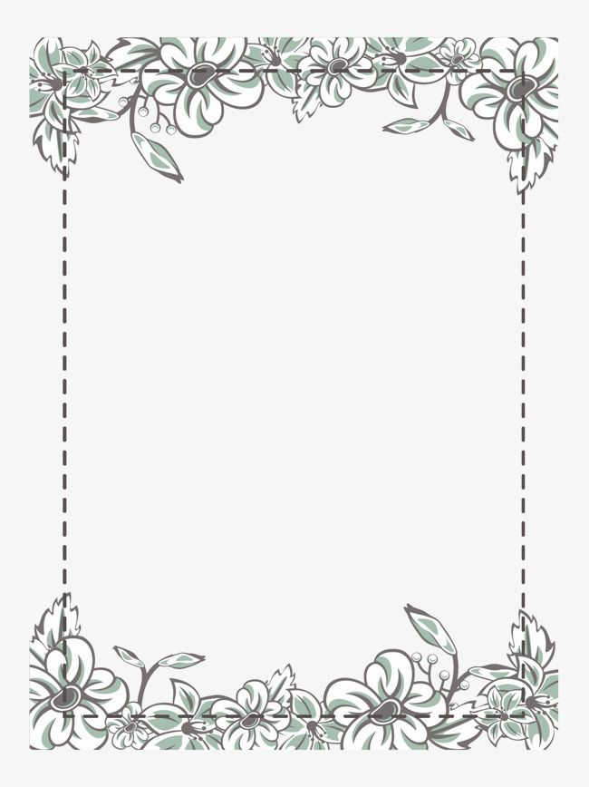 White Flower Frame Vector Material Classical White Flowers Png Transparent Clipart Image And Psd File For Free Download Flower Frame Flower Frame Png Wedding Drawing