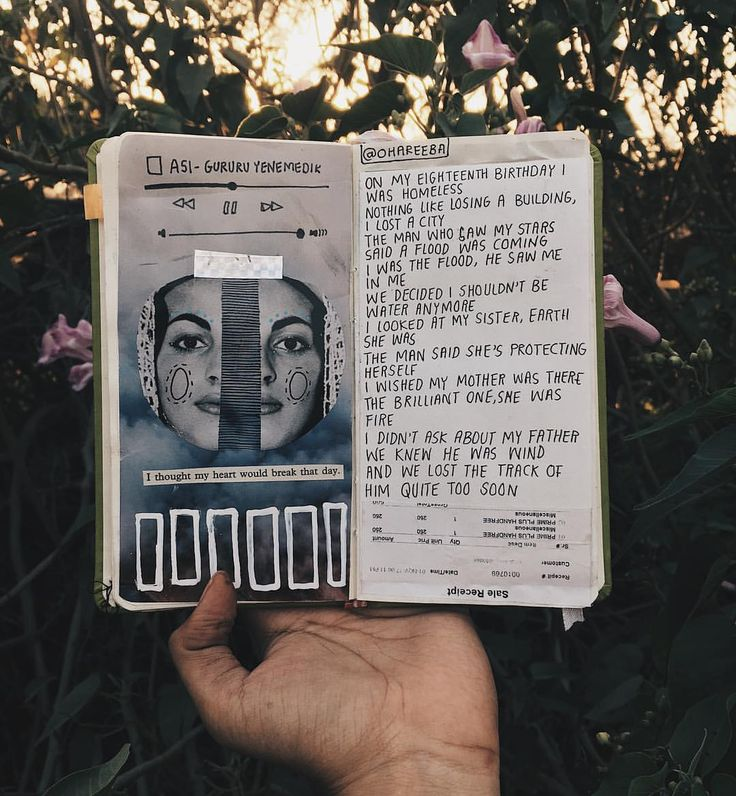 18th birthday: a poem / art journal / collage / writing / words / aesthetics / notebook / inspiration /