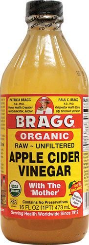 Organic Apple Cider Vinegar, for cleaning fresh produce