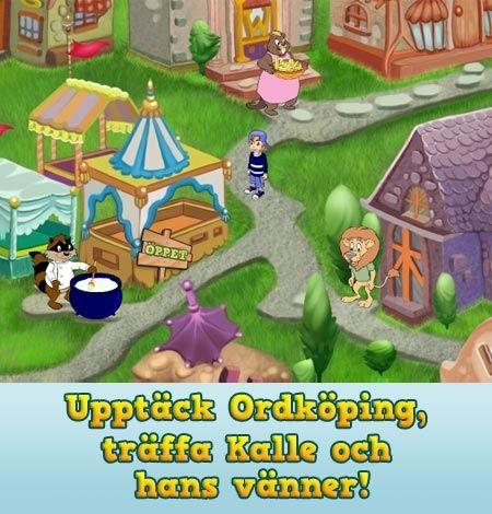 Populäraste siten efter bolibompa!! Upptäck Ordköping, träffa Kalle och hans vänner!