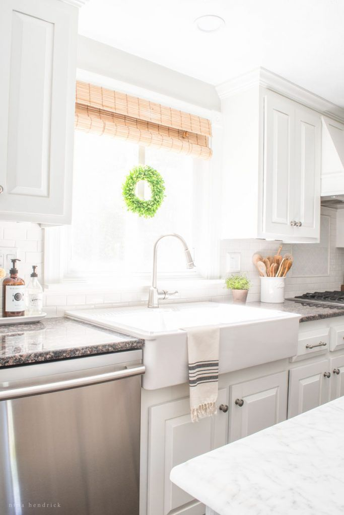 All About Our Ikea Farmhouse Domsjo Sink Review | Learn our pros and cons about this beautiful and affordable farmhouse sink.
