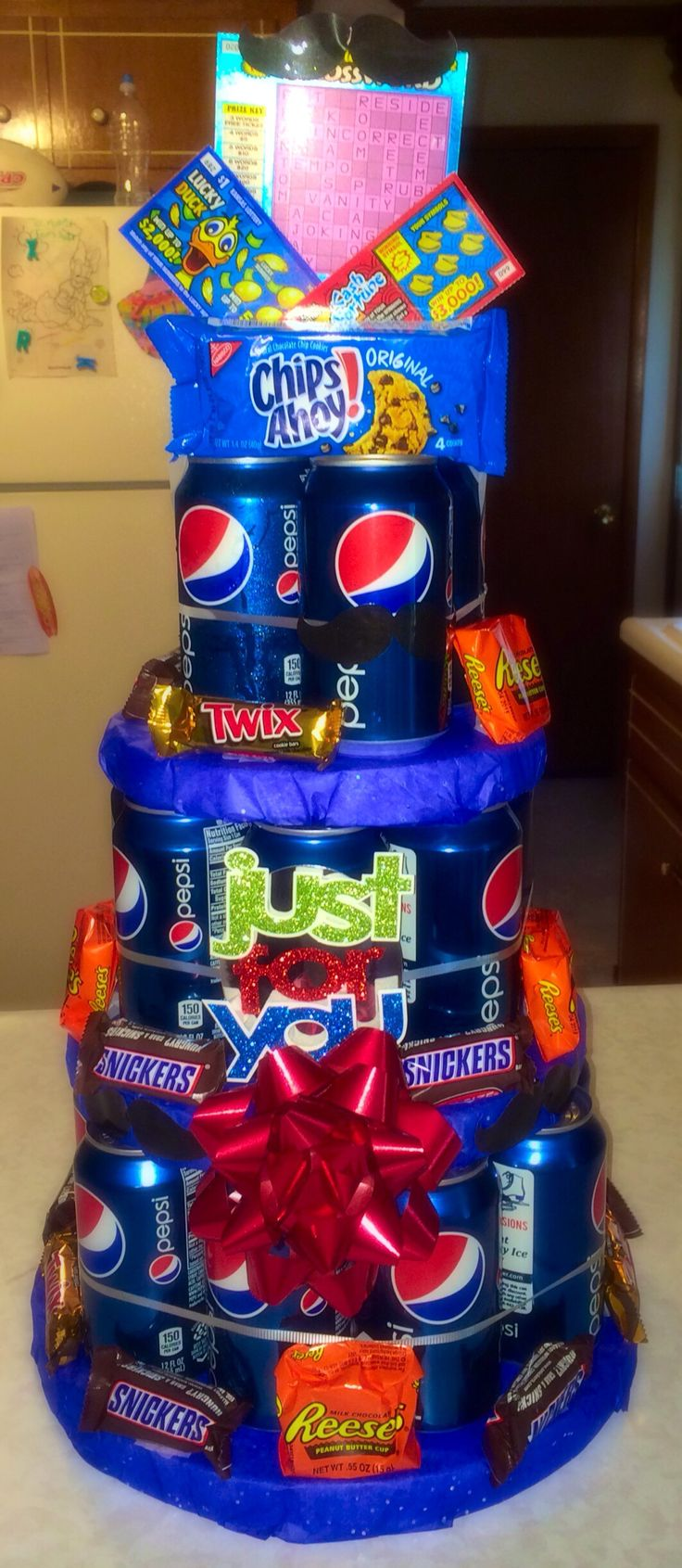 Pepsi Cake, because not everyone drinks beer.  Made for Father's Day but makes a great gift for any occasion - birthday, graduation, etc.