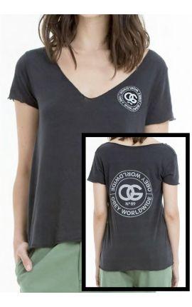"T-shirt Femme OBEY ""La rue de la Ruine"" heather black"