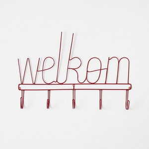 Welcome coat rack (Afrikaans version)