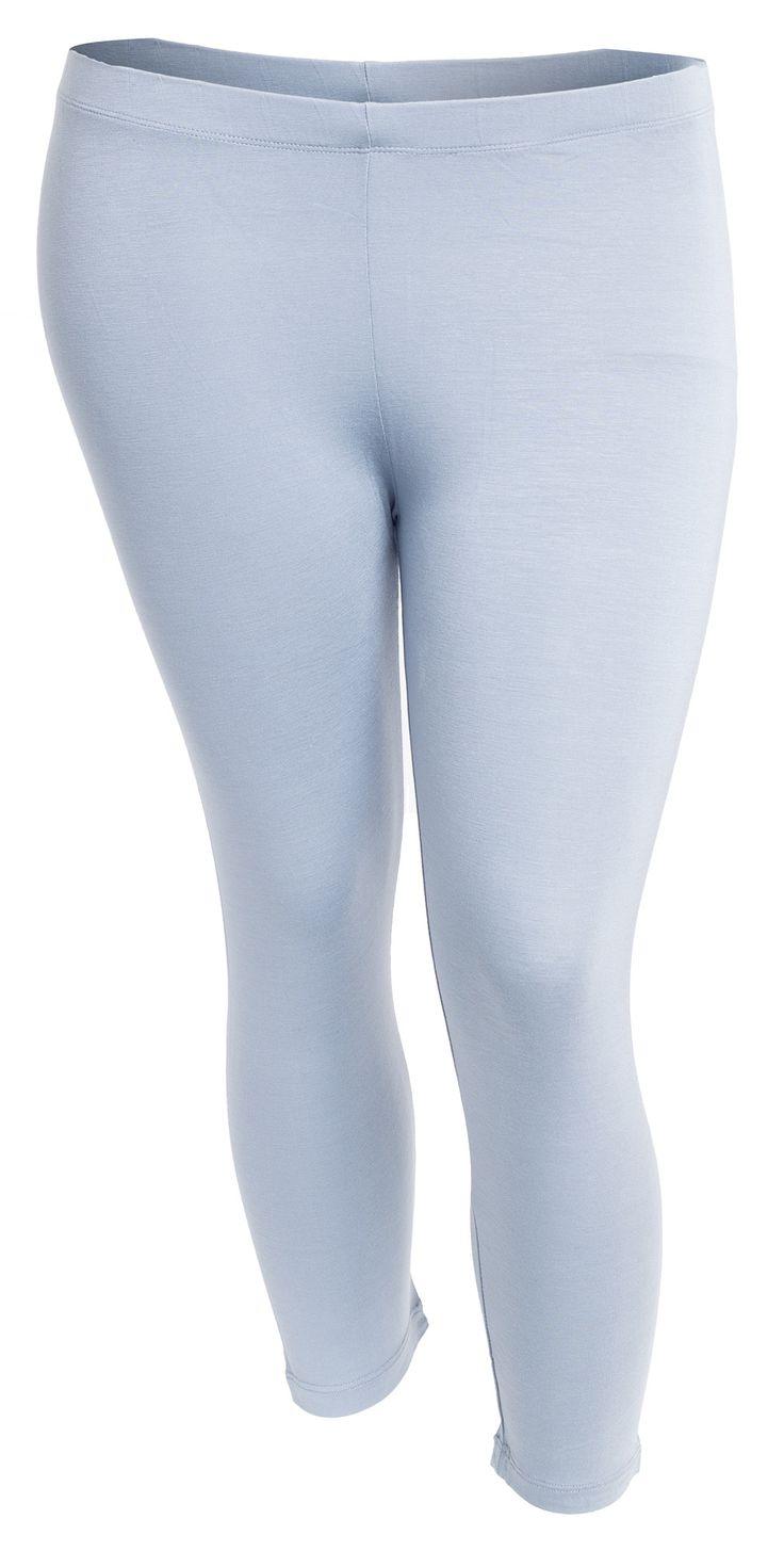 Fede Bløde basis leggings i grå-blå Festival Modetøj til Damer til hverdag og fest