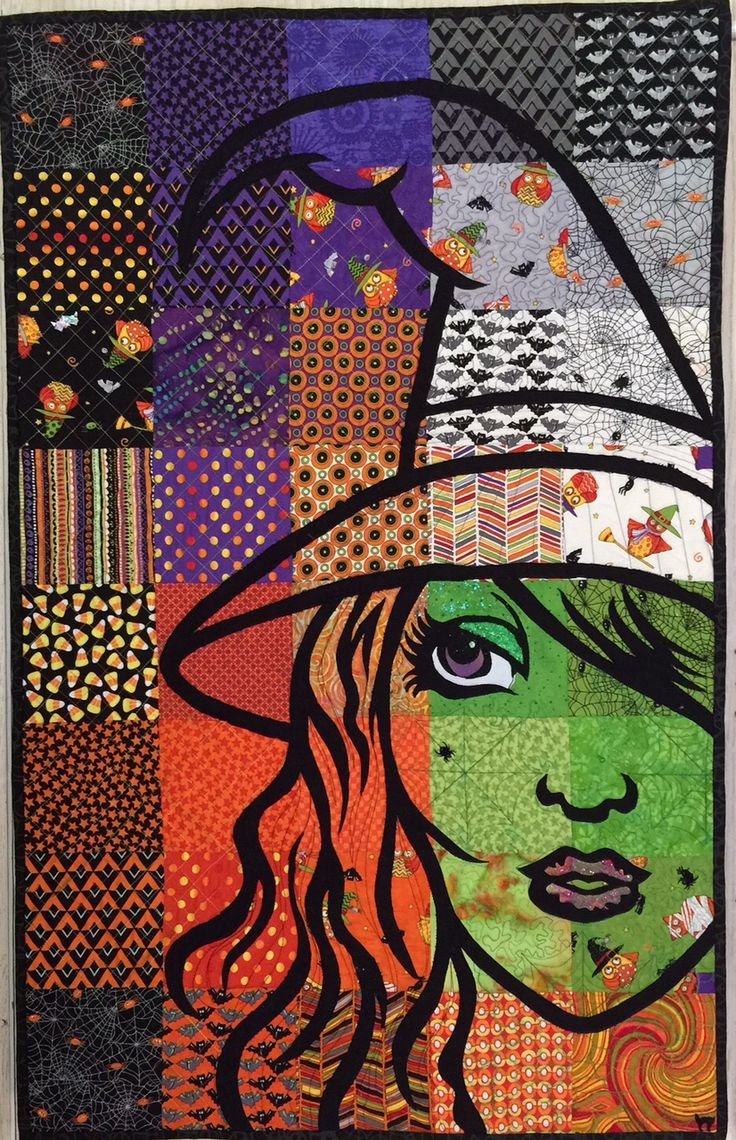 """Bella Strega"" ~ witch quilt for Halloween 