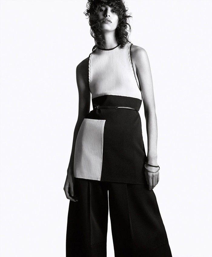 Black and white styled by DanielJackson - Harper´s bazar